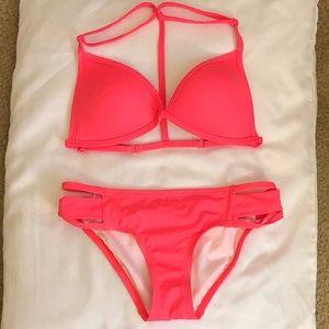 Never worn, VS PINK neon pink bikini